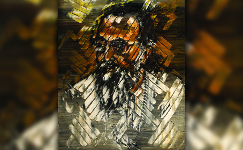 Swami Chinmayananda, 1972, oil on canvas