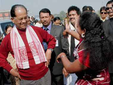 A file image of Assam Chief Minister Tarun Gogoi. PTI