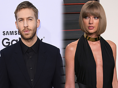 Calvin Harris and Taylor Swift. Image from AFP