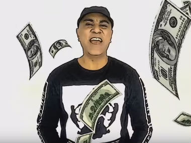 Baba Sehgal in his new video. Screenshot taken from YouTube video.