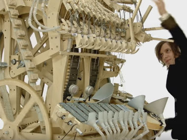 Screenshot of the Marble Machine from YouTube video.