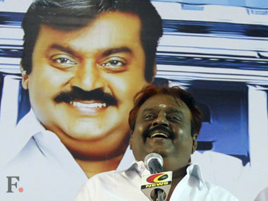 DMDK chief Vijayakanth. PTI
