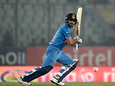 Virat Kohli in action against Sri Lanka. AFP