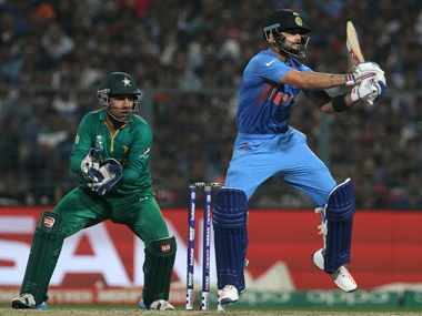 Virat Kohli during his knock against Pakistan at Eden Gardens on 19 March. Solaris Images