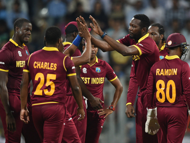 West Indies team. AFP