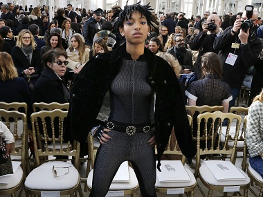 Willow Smith attends the Chanel 2016-2017 fall/winter ready-to-wear collection on Tuesday in Paris. AFP