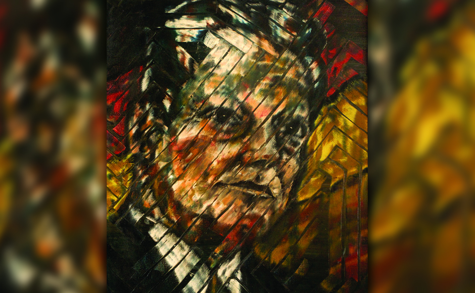 Willy Brandt, former German chancellor, oil on canvas