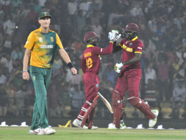 World T20 West Indies make a meal of South Africas small target before reaching semis do England a favour