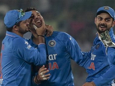 File picture of India cricketers. AP