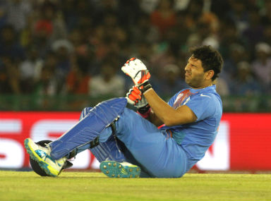 ICC World T20 What the heck was an injured Yuvraj Singh doing limping around in the middle