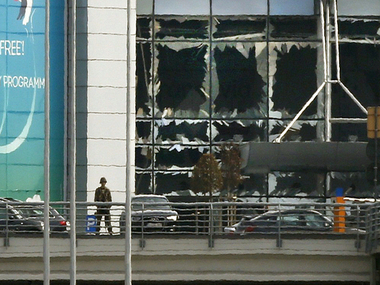 Remains of the Brussels carnage. We have not used the Jet Airways staffer's picture given the family's reservations/ Reuters