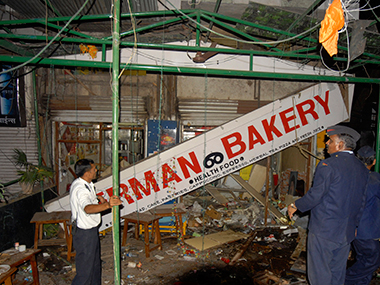 The blast at German Bakery. File photo. Reuters