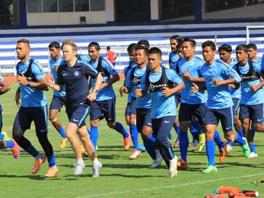 File photo of Indian football team in training. AIFF
