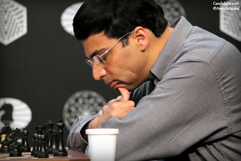 A sad day for Anand fans, but with four rounds to go, the Indian ace (seen concentrating hard during the match) can still make a comeback. Amruta Mokal