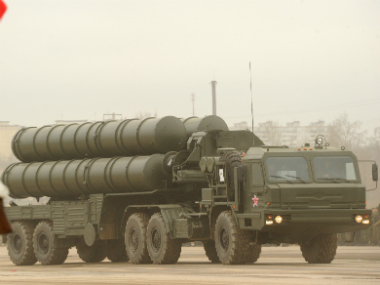 A file photo of Russia's S-300 missile. AFP
