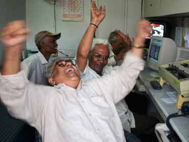 Sensex scales new high in early trade gains nearly 400 points Nifty at fresh peak of 10887