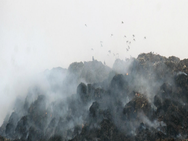 Th Bhalswa landfill in Delhi. Firstpost