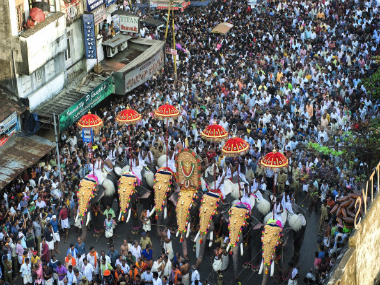 Thrissur Pooram festival. Getty Images