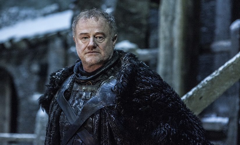 Ser Alliser Thorne in Episode 2. Game of Thrones, HBO and related service marks are the property of Home Box office, Inc. All rights reserved
