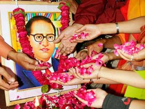 File image of people paying tribute to BR Ambedkar. Reuters