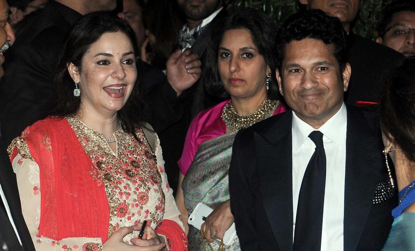 Anjali and Sachin Tendulkar at the gala. Image by Sachin Gokhale