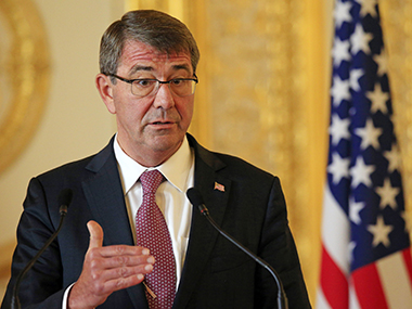 US Secretary of Defence Ashton Carter. Reuters