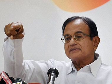 P Chidambaram. File photo. PTI