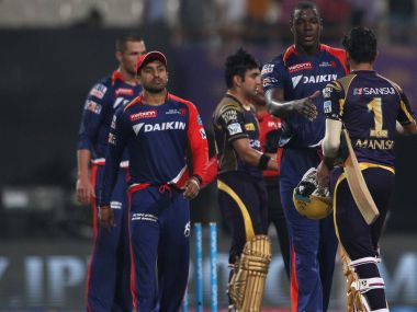 Delhi Daredevils after their defeat to KKR. BCCI