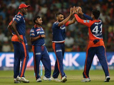 File picture of the Delhi Daredevils team . AFP