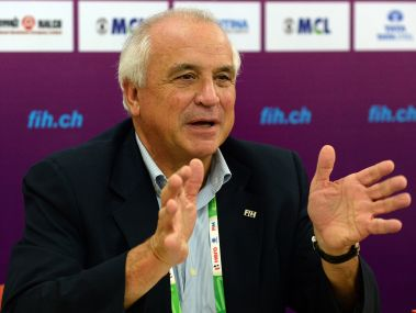 File photo of the President of the International Hockey Federation (FIH) Leandro Negre. AFP