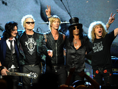File photo of Guns 'n' Roses. AFP
