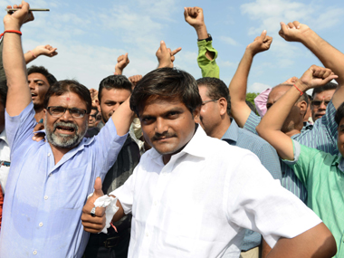 A file photo of Hardik Patel - Patidar community. AFP
