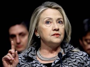 Democratic presidential front-runner Hillary Clinton. AP.