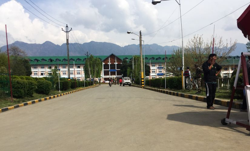 The Main road leading to the Campus. Sameer Yasir