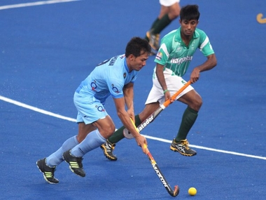 Image from India Pakistan match in Sultan Azlan Shah Cup. Courtesty: Twitter / @azlancup