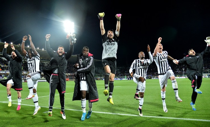 Juventus won their fifth consecutive Serie A title after going on a 25-game unbeaten streak. AFP