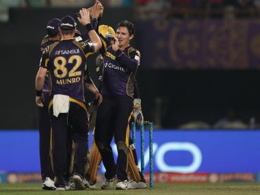 KKR celebrate a fall of wicket. IPL