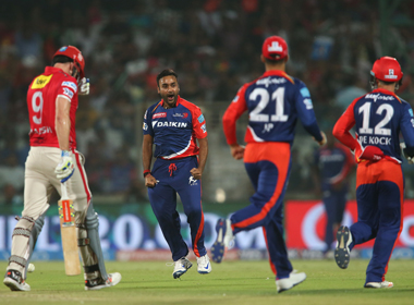Another top order collapse as Shaun Marsh of Kings XI Punjab was dismissed for an underwhelming 13. BCCI