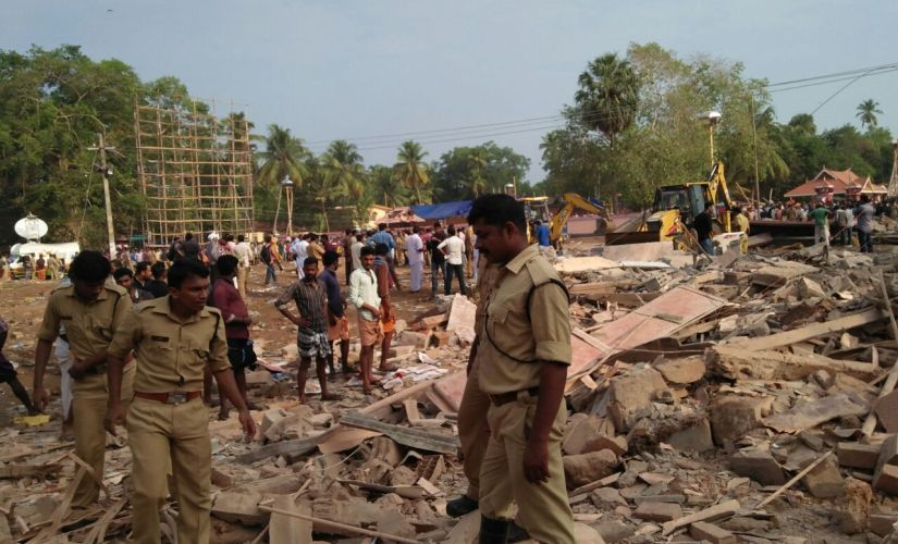 Rescue operations are going on at the blast site. Photo: Vineeth Nair