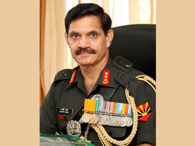 File image of General Dalbir Singh. PTI
