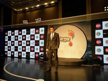 Luis Figo at the Premier Futsal event in Mumbai