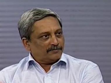Defence Minister Manohar Parrikar. Image courtesy ibnlive