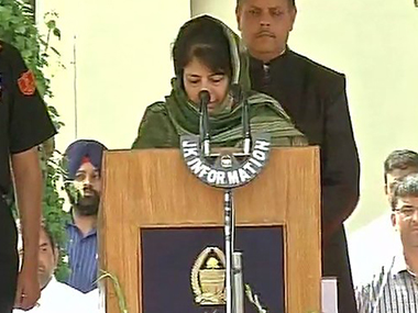 JK gets its first woman CM in Mehbooba Mufti BJP gets more Cabinet berths