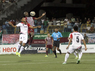 Mohun Bagan in action against DSK Shivajians. Image source: Twitter