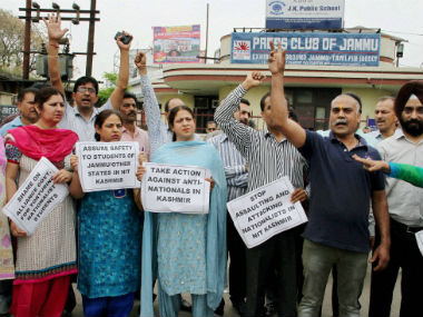 Several organisations have called for a bandh in Jammu over the NIT Srinagar row. PTI