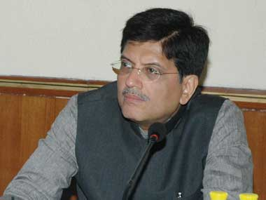 Power Minister Piyush Goyal. Image courtesy PIB