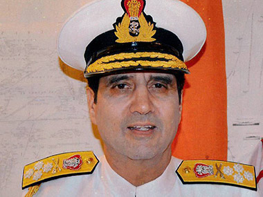 File image of Chief of Naval Staff Admiral Robin Dhowan. PTI