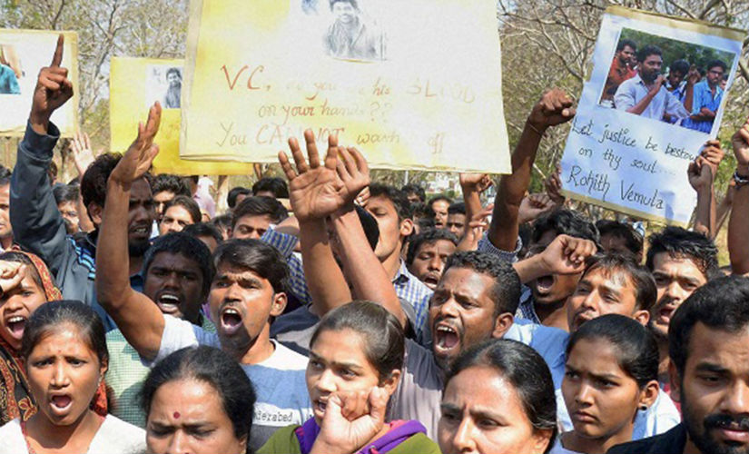 Rohith Vemula suicide row also hit the Parliament, as Opposition parties lashed out at HRD Minister Smriti Irani. PTI