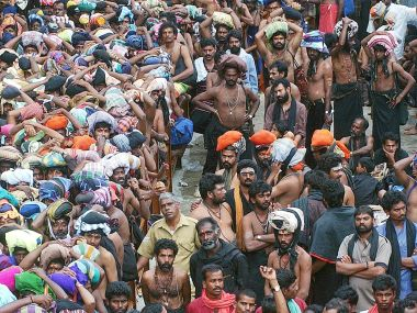 Crowds at the Sabarimala temple. File photo. Reuters
