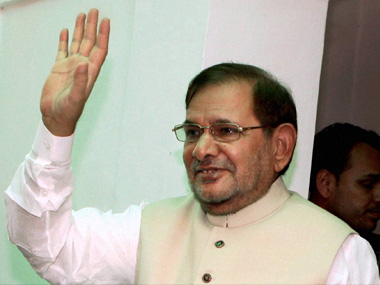 File photo of Sharad Yadav. PTI